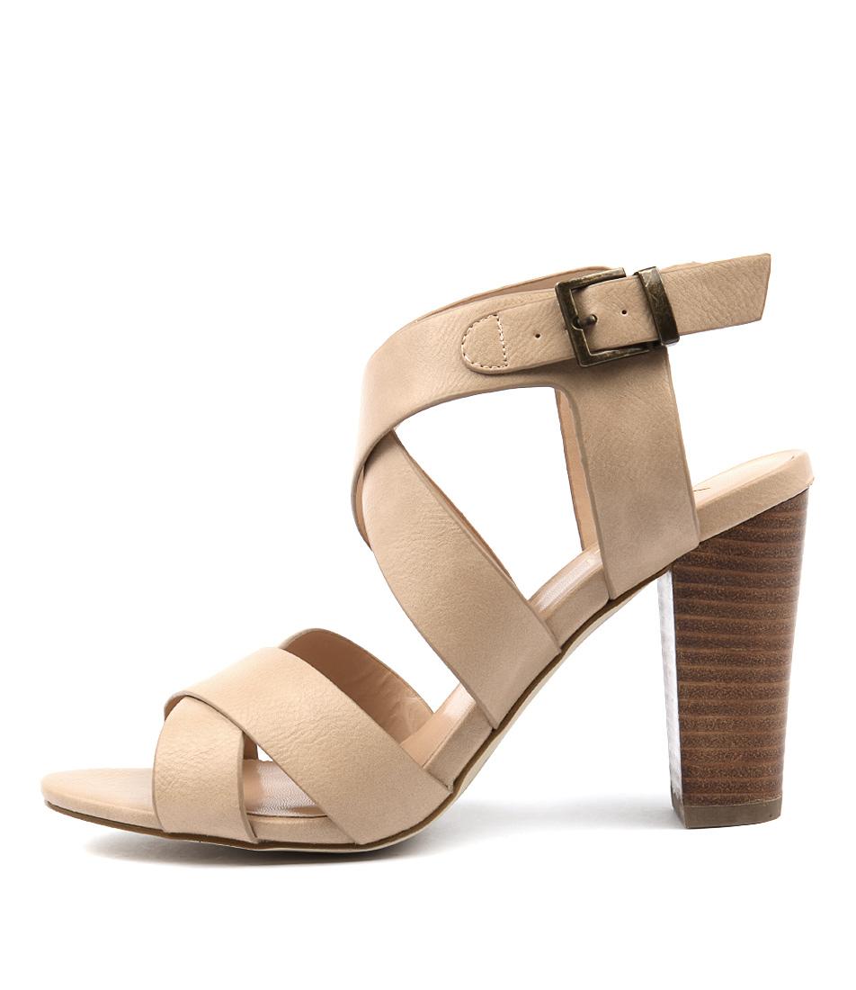 Verali Chili Ve Taupe Heeled Sandals