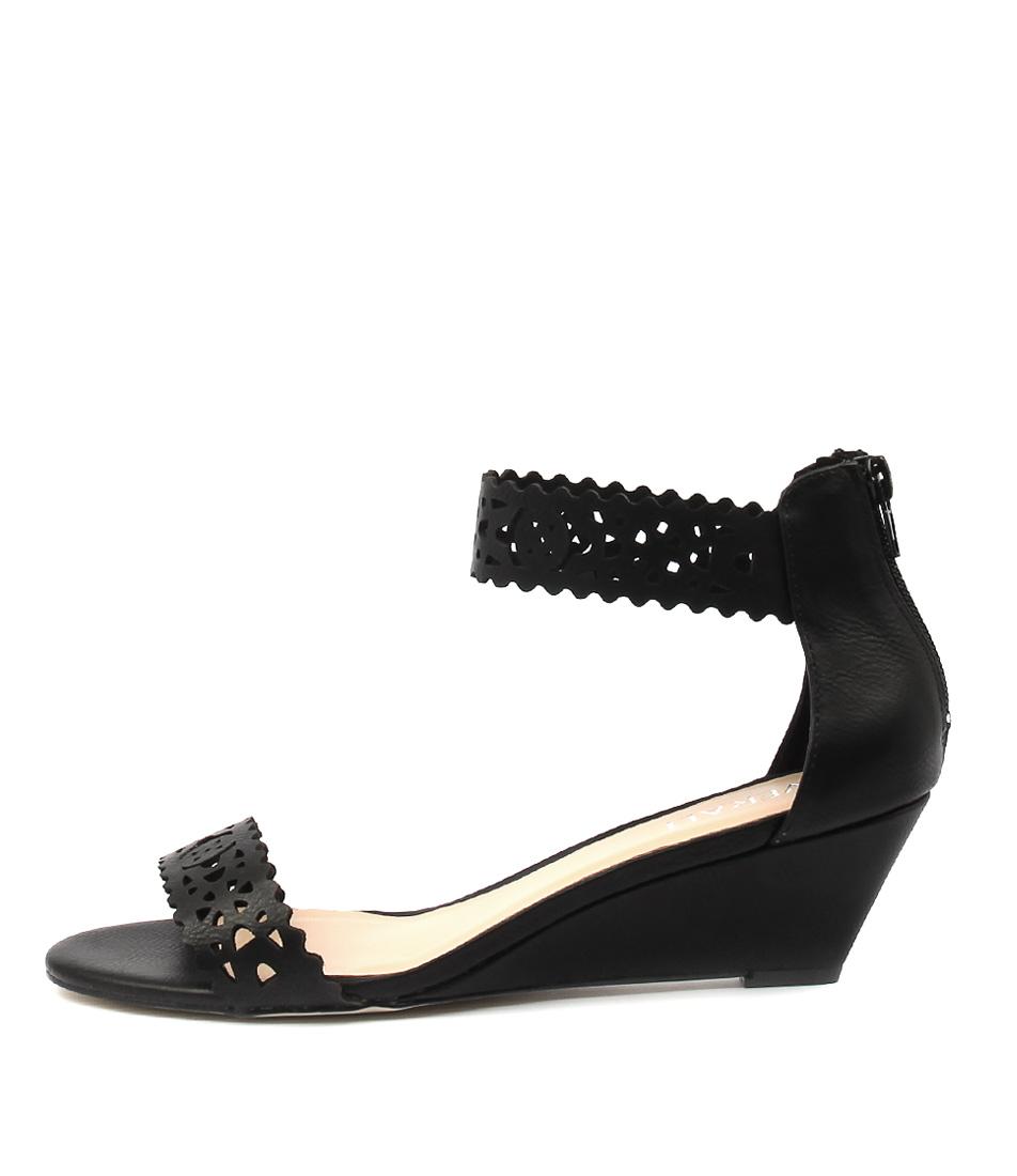 Verali Korona Black Casual Heeled Sandals