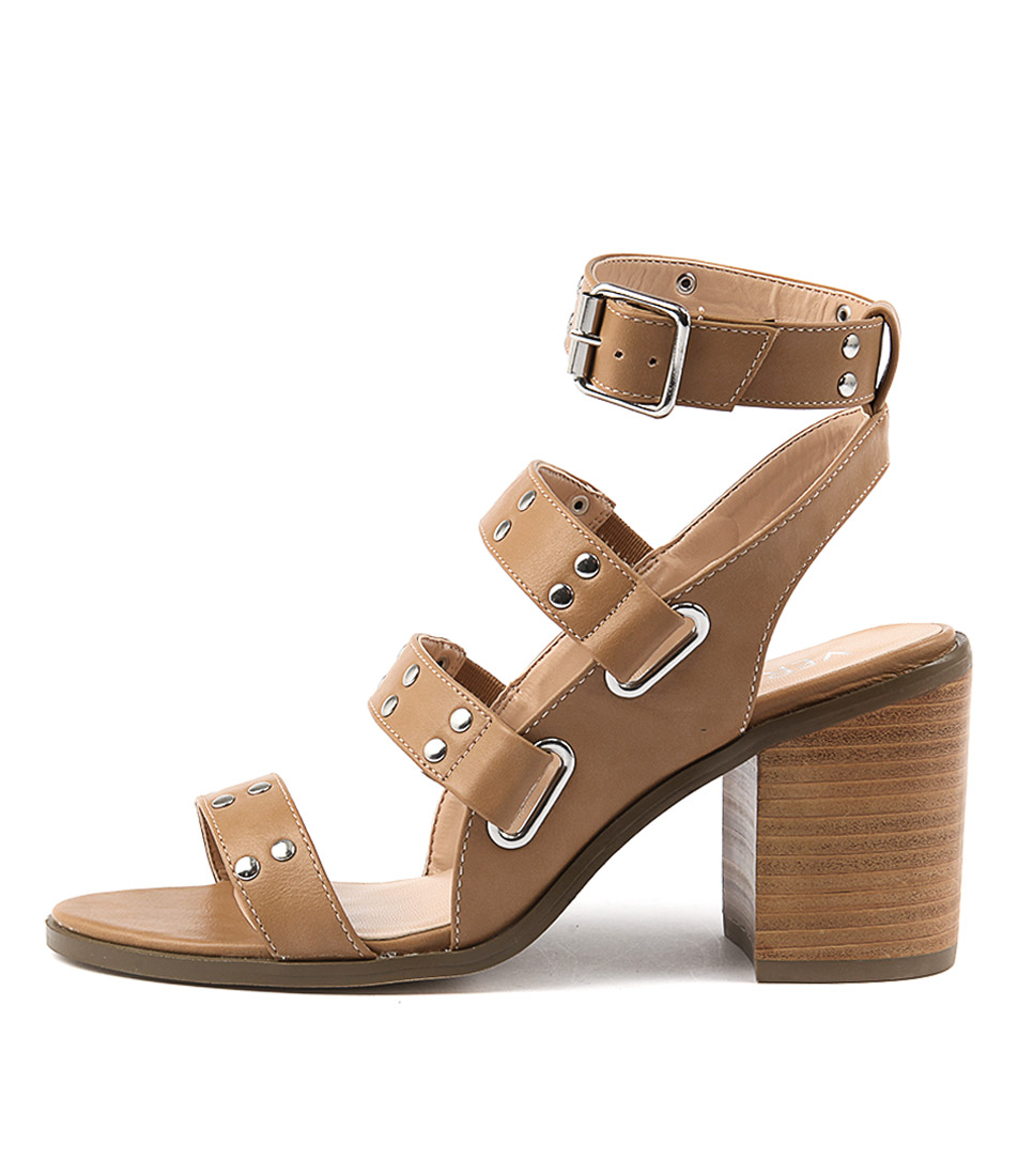 Verali Ramiro Tan Casual Heeled Sandals