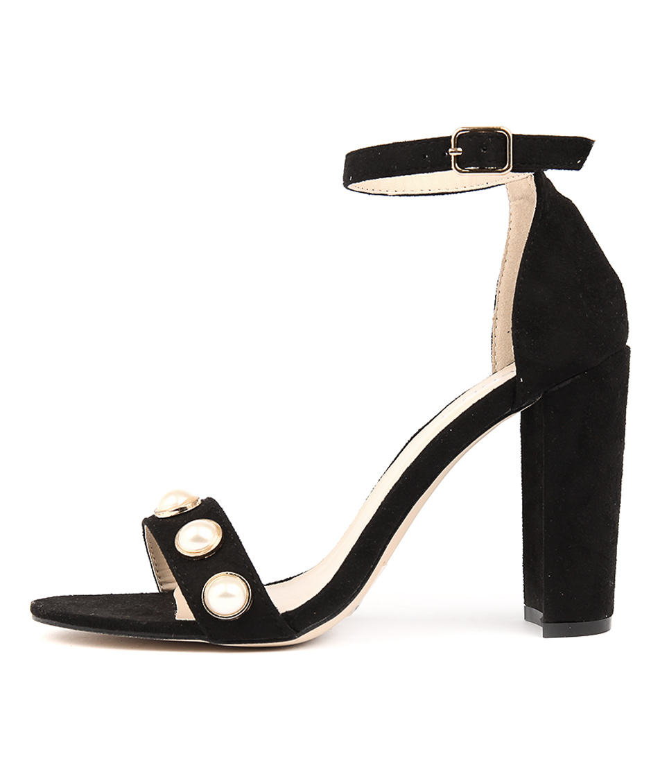 Verali Jealous Black Heeled Sandals
