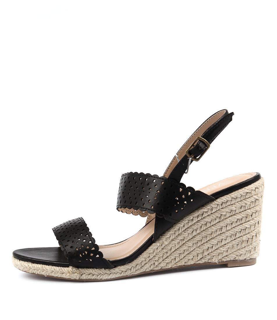 Verali Vicktory Black Heeled Sandals