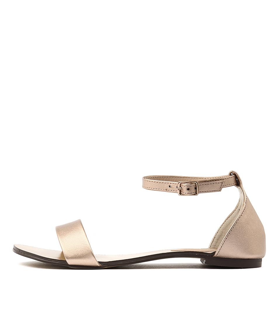 Verali Rae2 Ve Rose Gold Casual Flat Sandals