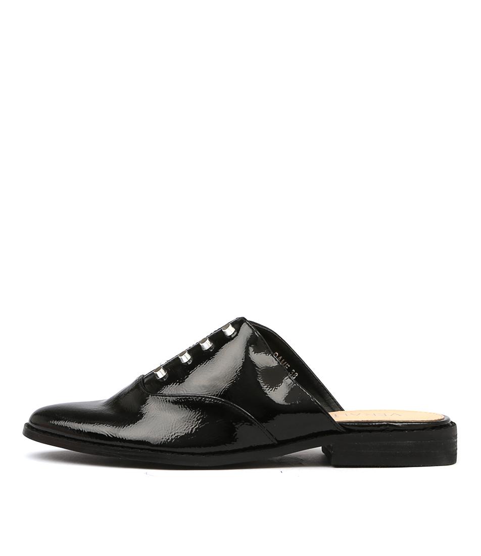 Verali Dame Black Flat Shoes