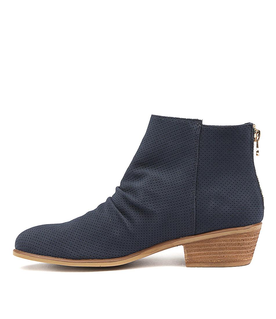 buy Verali Sabra Ve Navy Ankle Boots shop Verali Boots, Ankle Boots online