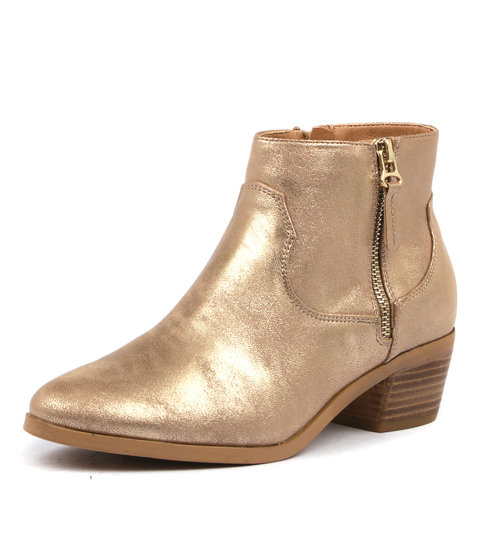 Verali Sista Ve Rose Gold Ankle Boots