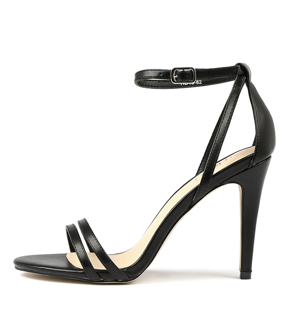 Buy Verali Olera Black Heeled Sandals online with free shipping