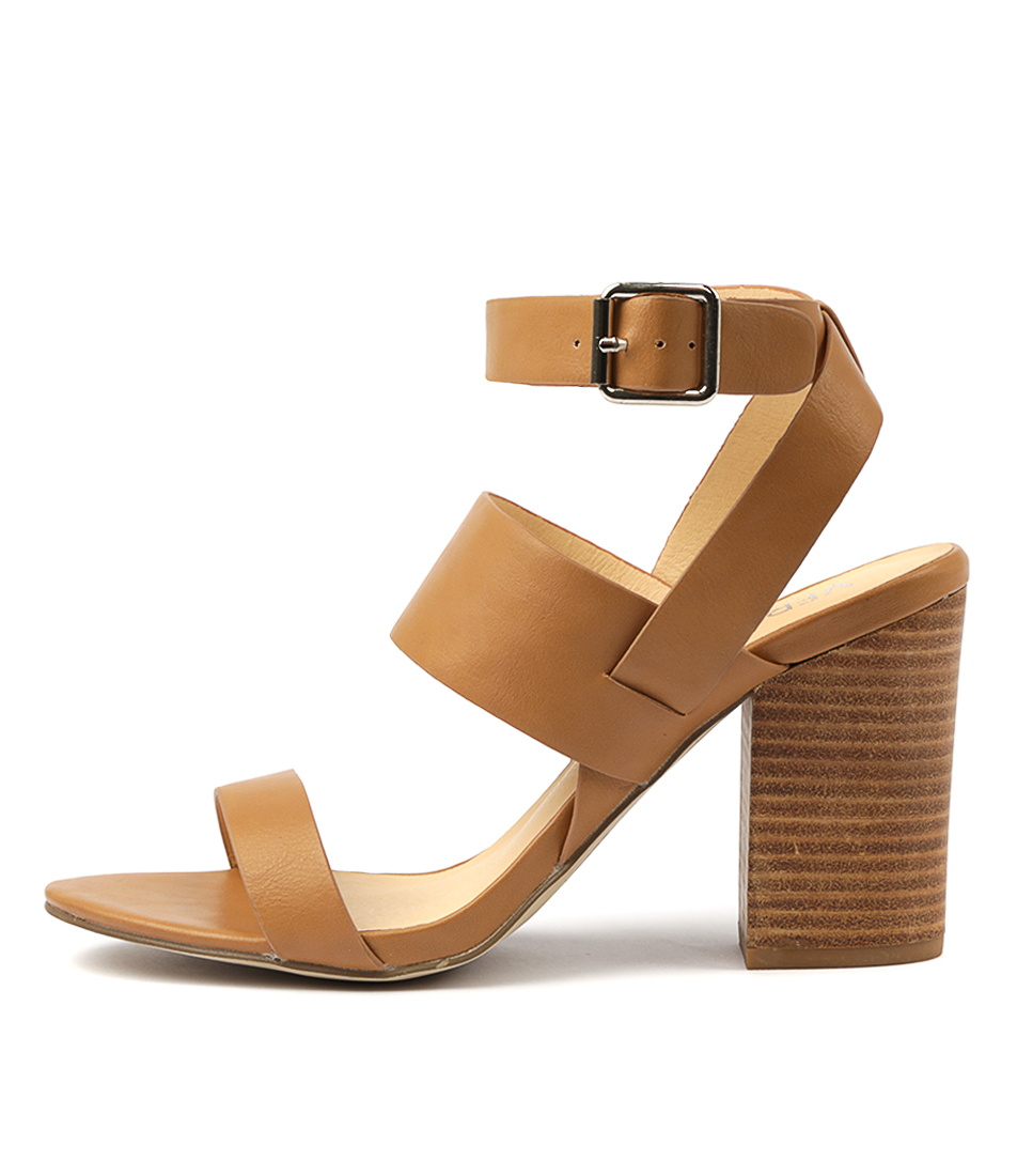 Buy Verali Jamira Tan Heeled Sandals online with free shipping