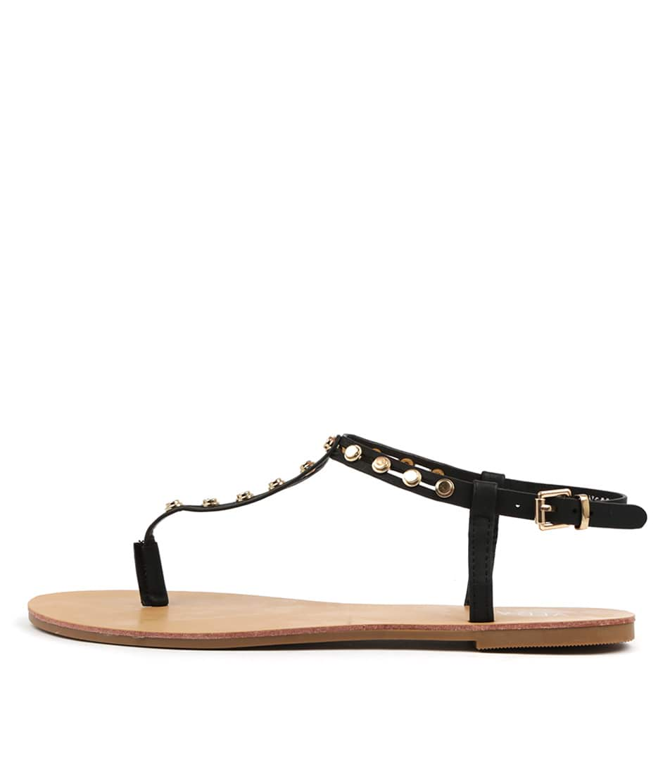 Buy Verali Banqor Black Flat Sandals online with free shipping
