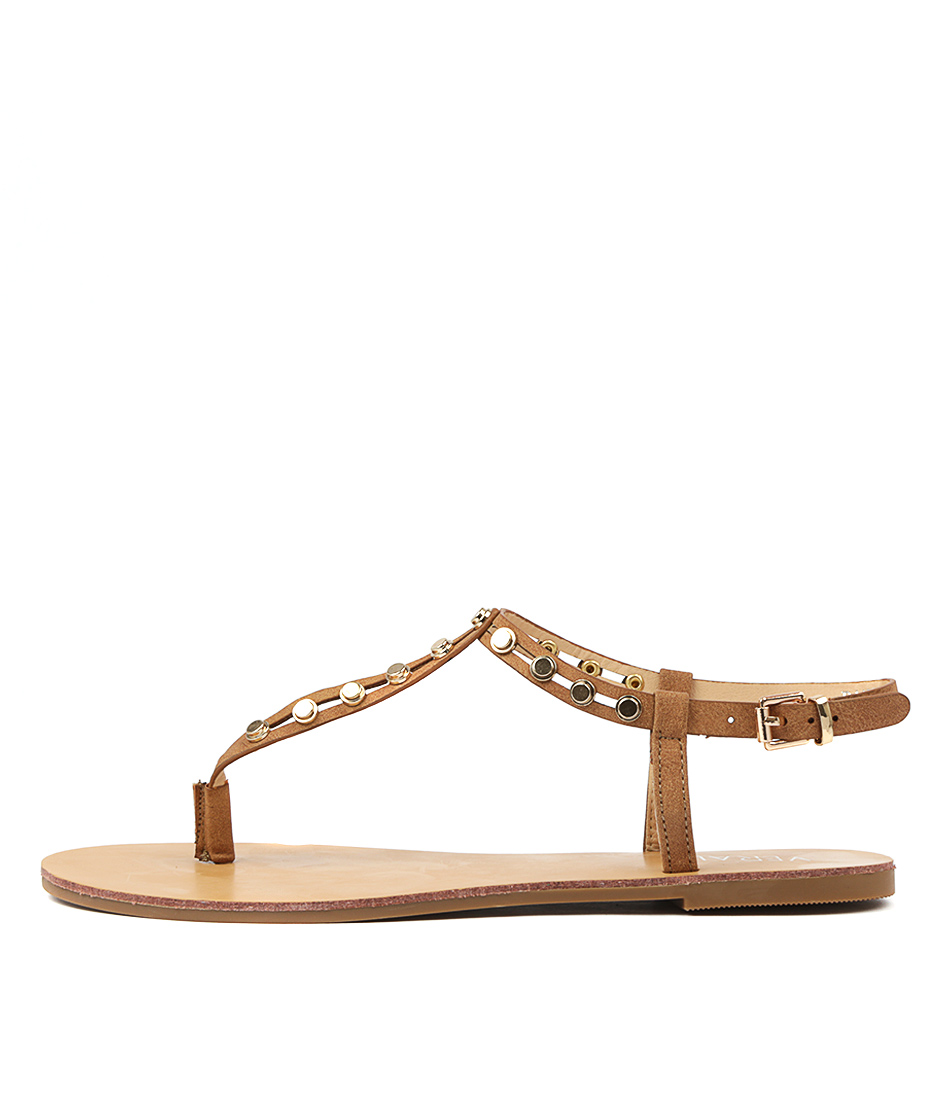 Buy Verali Banqor Tan Flat Sandals online with free shipping