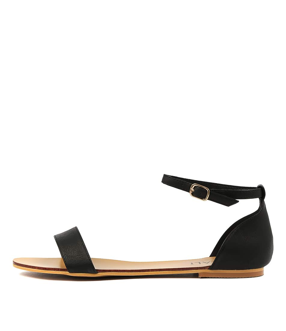 Buy Verali Bailey Ve2 Black Flat Sandals online with free shipping