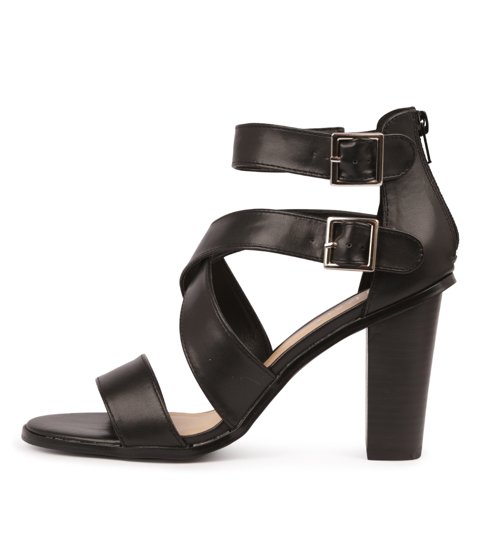 Buy Verali Goals Ve Black Heeled Sandals online with free shipping