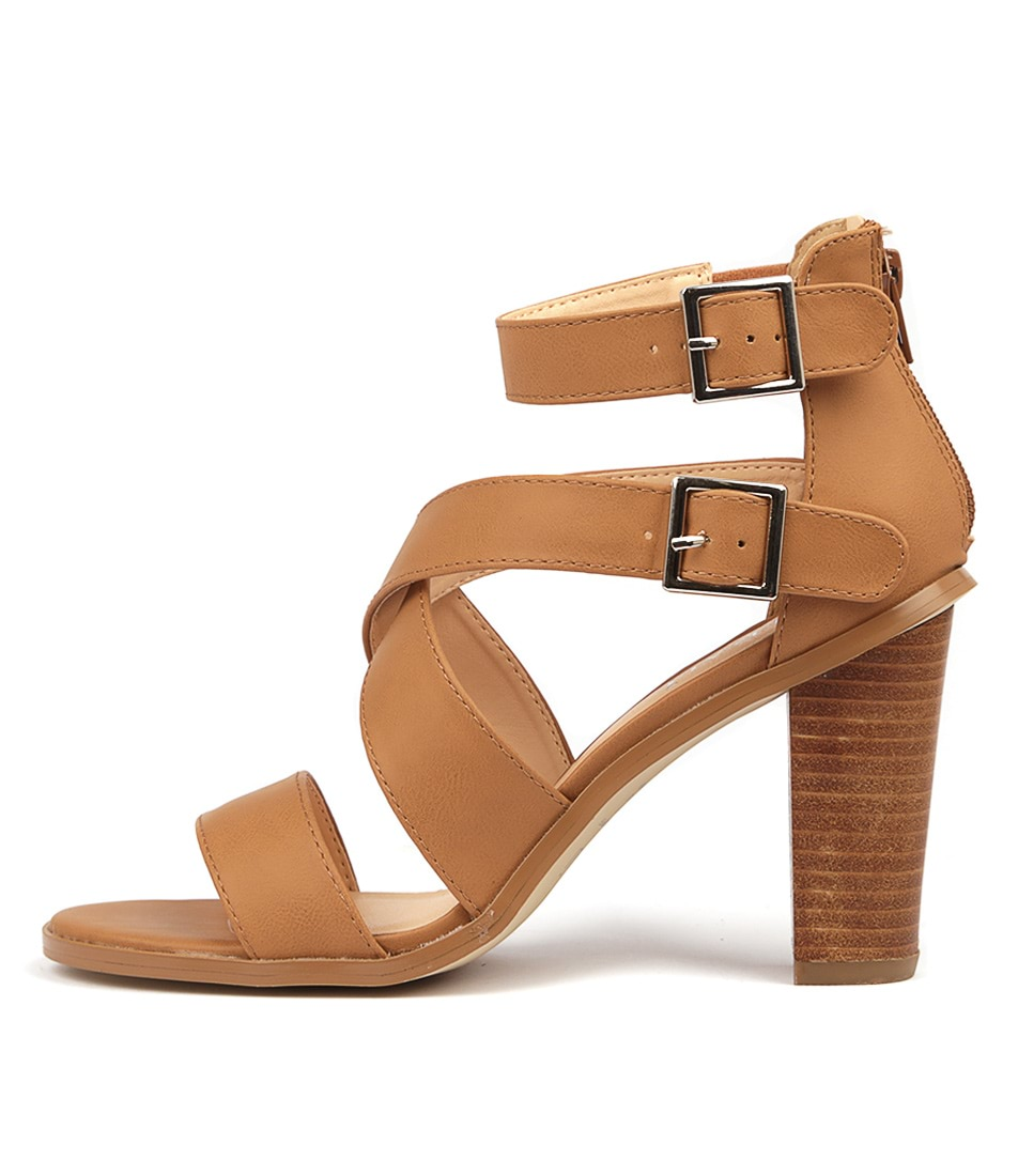 Buy Verali Goals Ve Tan Heeled Sandals online with free shipping