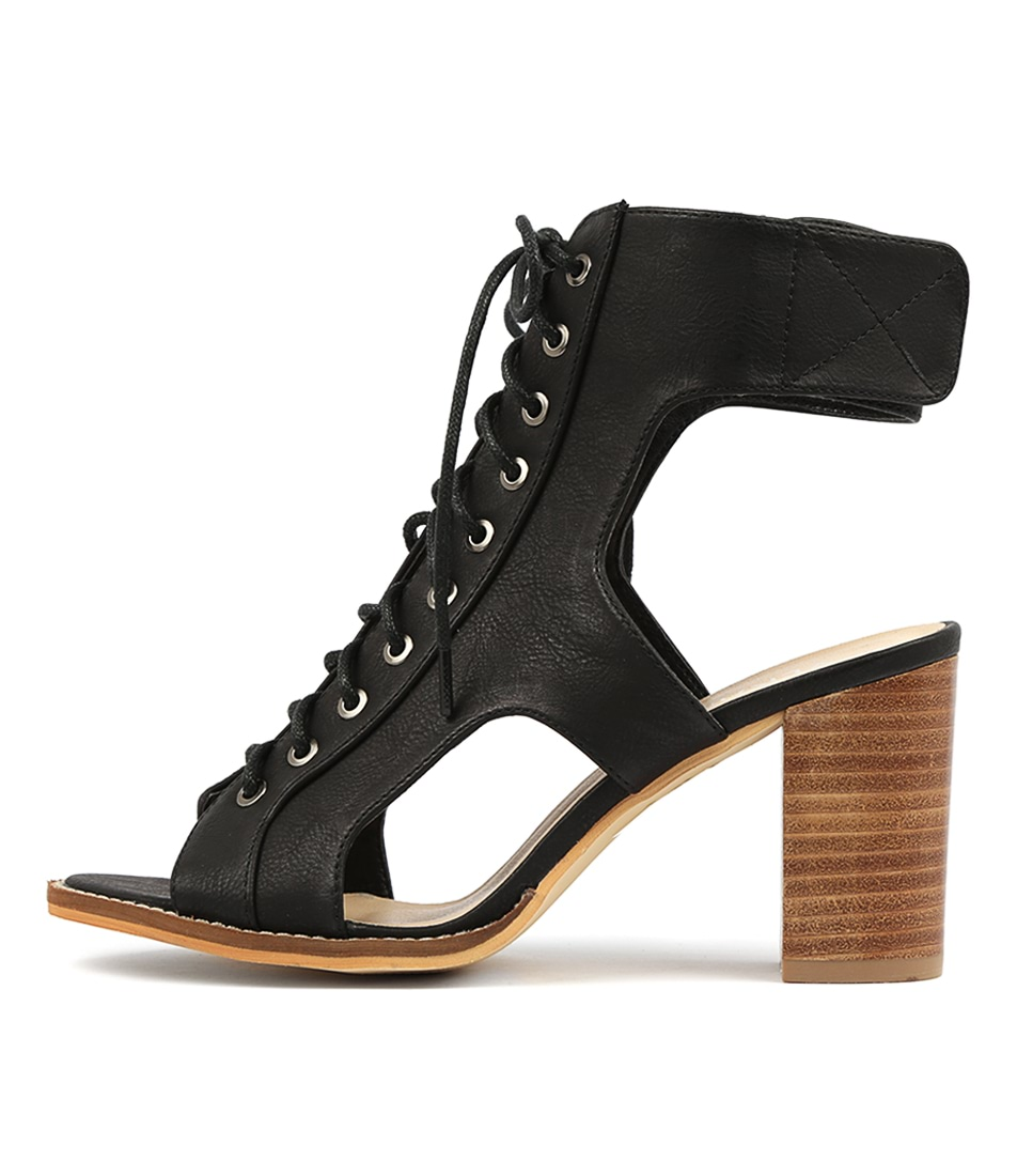 Buy Verali Palato Black Heeled Sandals online with free shipping