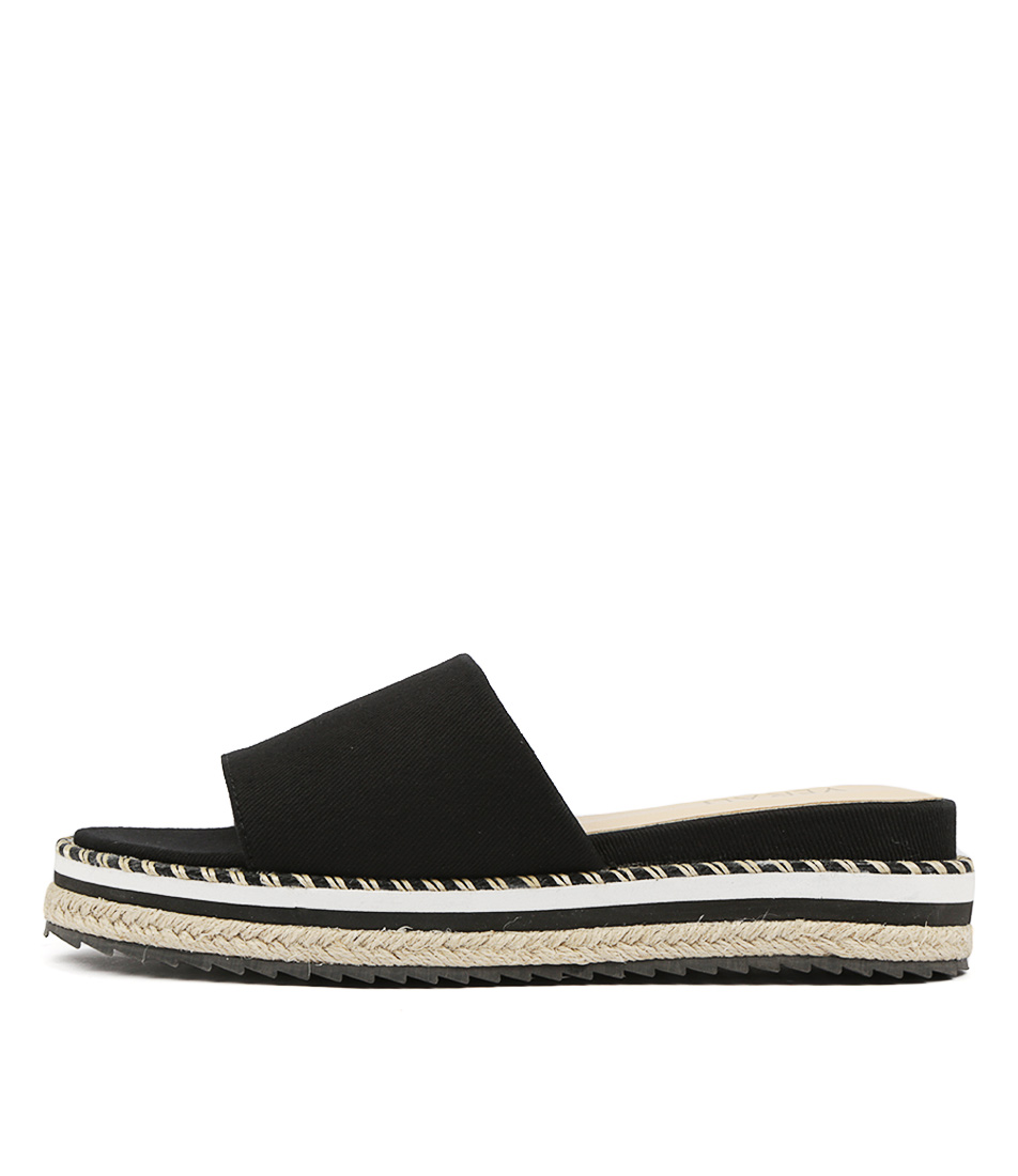 Buy Verali Nino Ve Black Flat Sandals online with free shipping