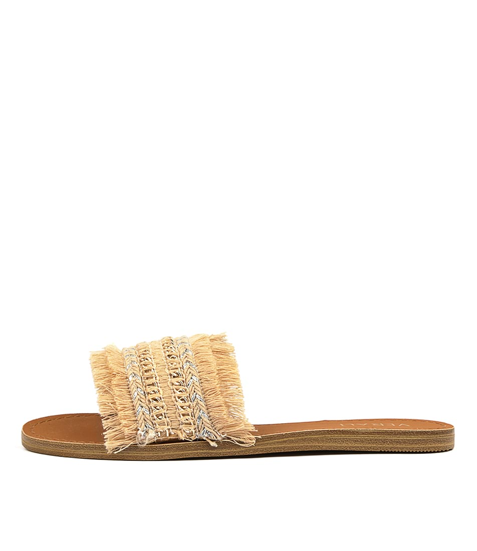 Buy Verali Tobi Natural Flat Sandals online with free shipping
