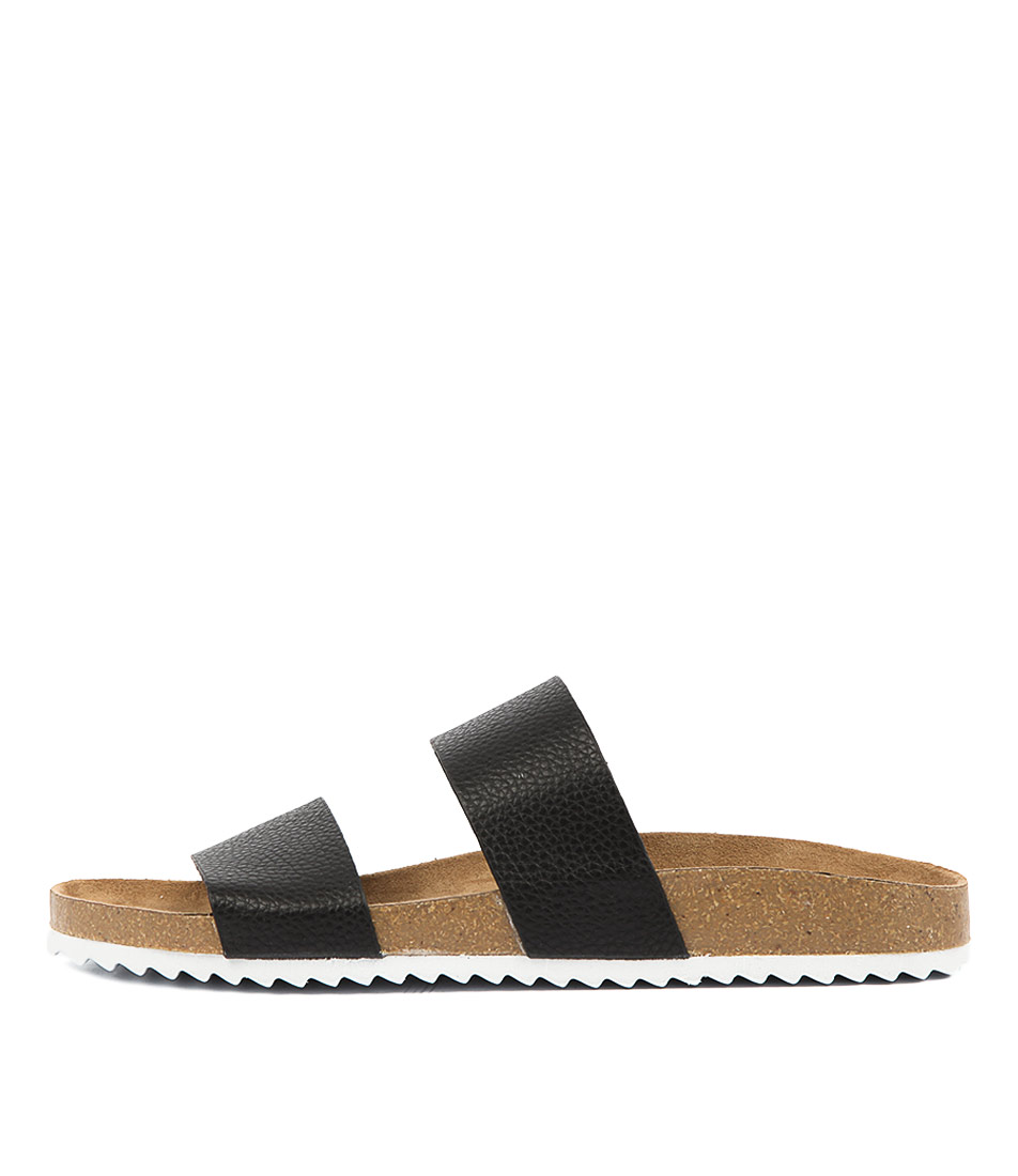 Buy Verali Xenon Black Flat Sandals online with free shipping