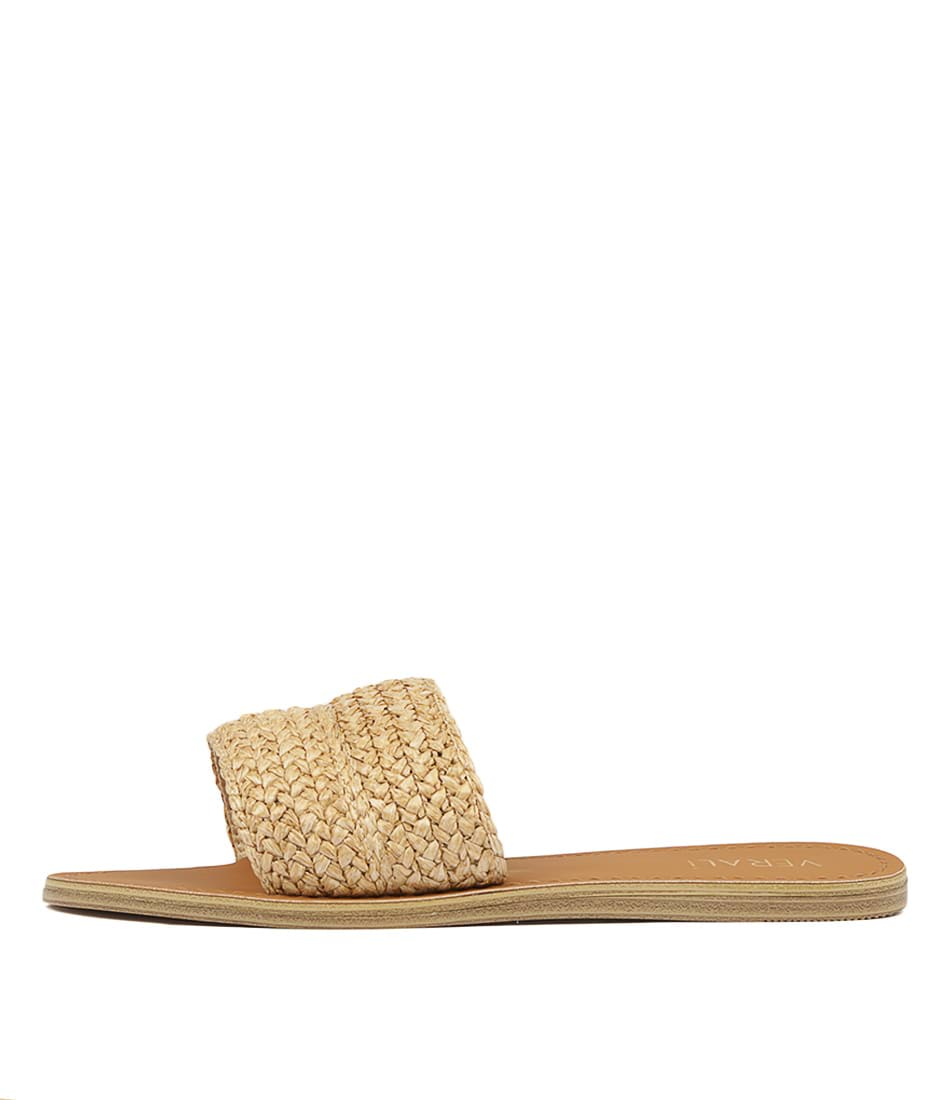 Buy Verali Talby Natural Flat Sandals online with free shipping