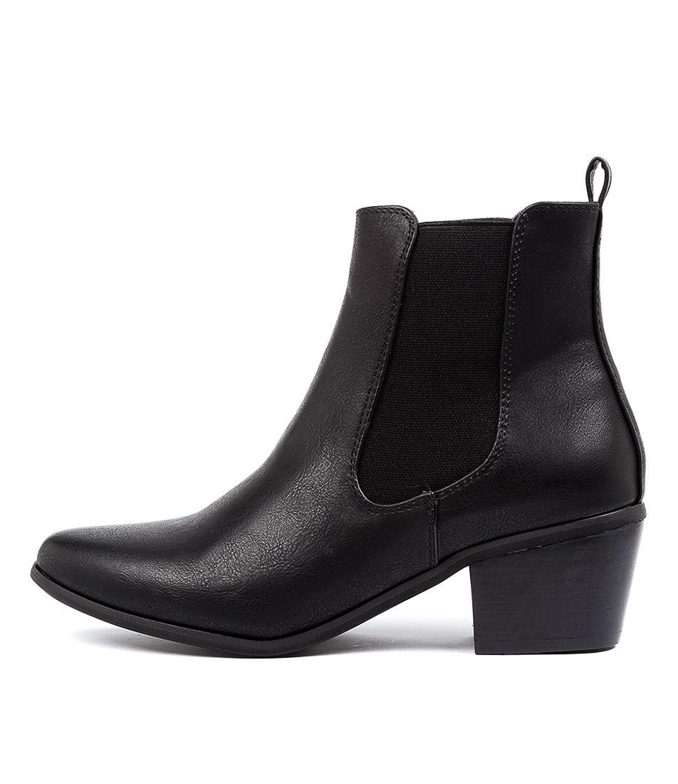 Buy Verali Linz Ve Black Ankle Boots online with free shipping