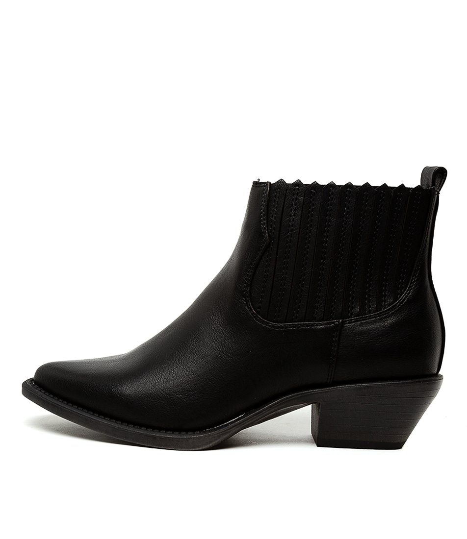 Buy Verali Terry Black Ankle Boots online with free shipping