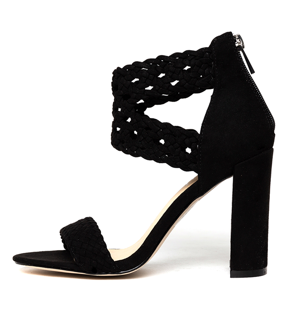 Buy Verali Giplo Black Heeled Sandals online with free shipping