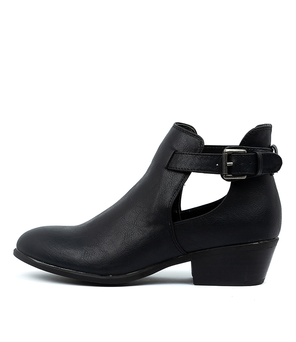 Buy Verali Susha Black Ankle Boots online with free shipping
