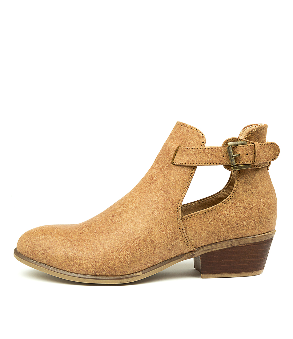 Buy Verali Susha Tan Ankle Boots online with free shipping