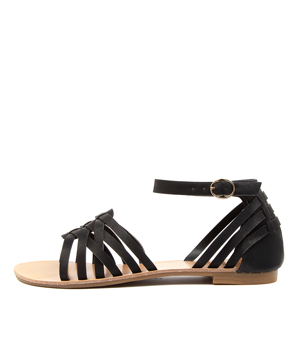 Buy Verali San Marco Ve Black Flat Sandals online with free shipping