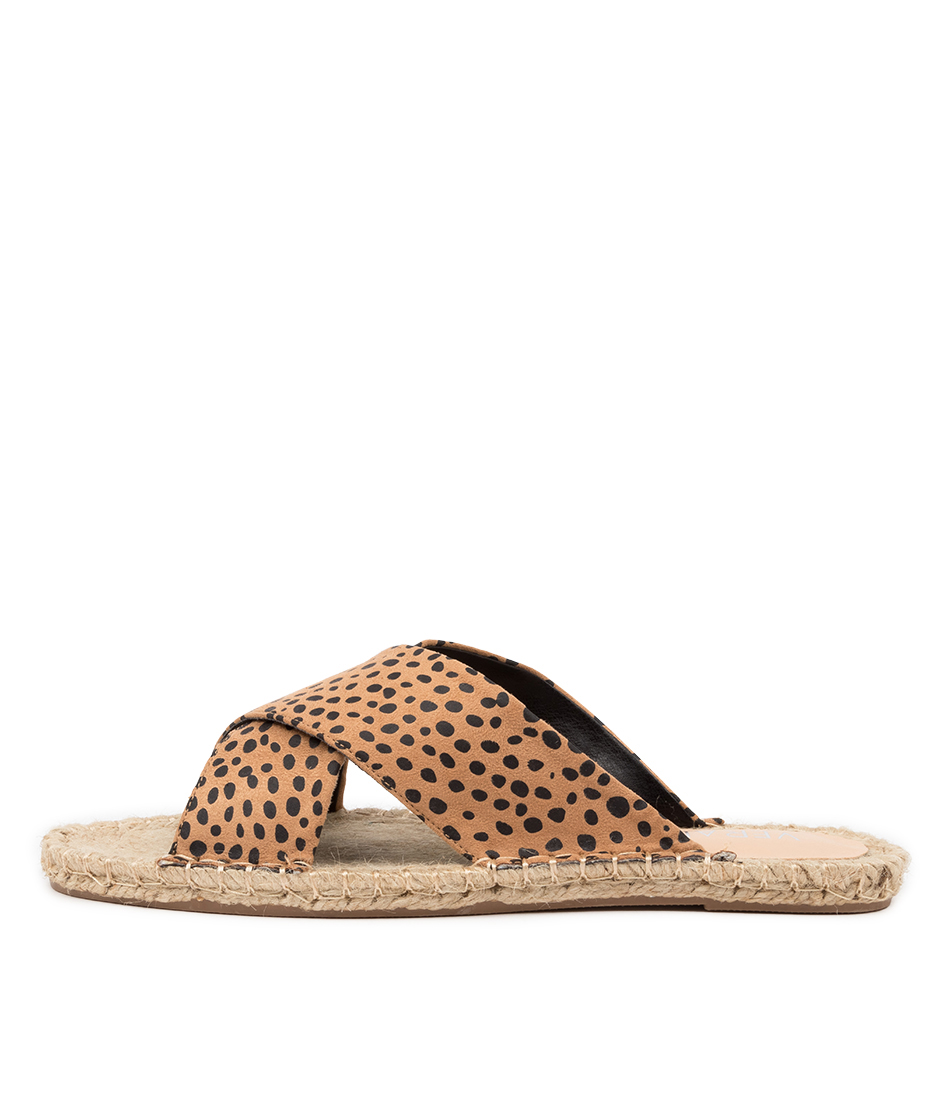 Buy Verali Equalizer Ve Nude Cheetah Flat Sandals online with free shipping