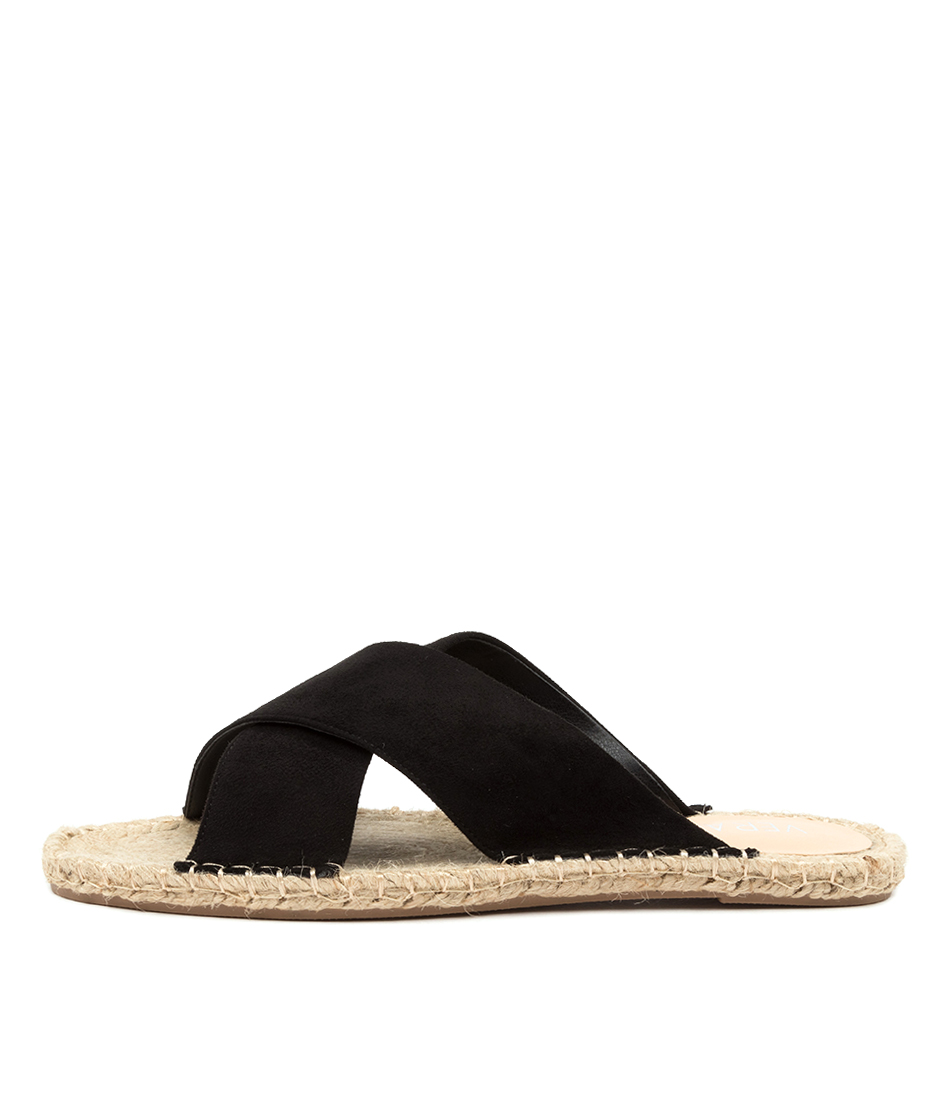 Buy Verali Equalizer Ve Black Flat Sandals online with free shipping