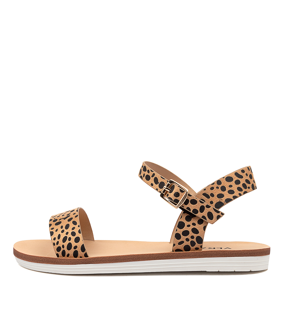 Buy Verali Sass Ve Nude Cheetah Flat Sandals online with free shipping
