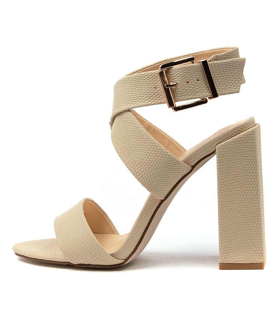 Buy Verali Beko Ve Natural Heeled Sandals online with free shipping