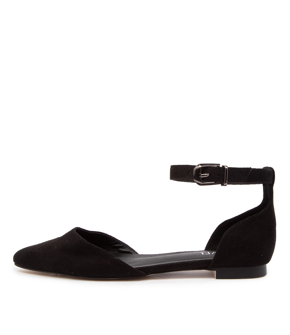 Buy Verali Rukas Ii Ve Black Flats online with free shipping