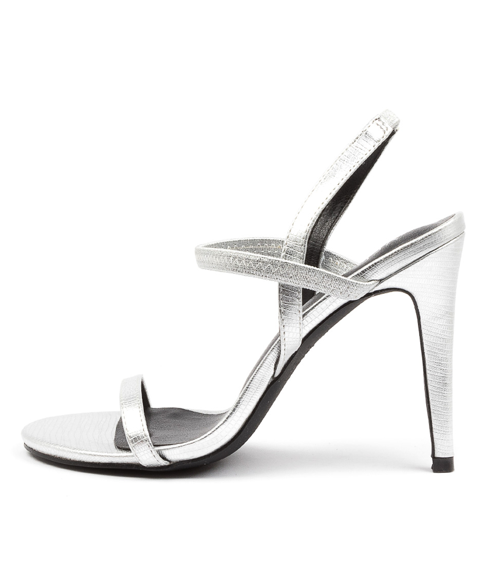 Buy Verali Obsess Ve Silver Heeled Sandals online with free shipping