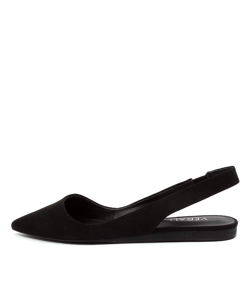 Buy Verali Pippa Ve Black Flats online with free shipping