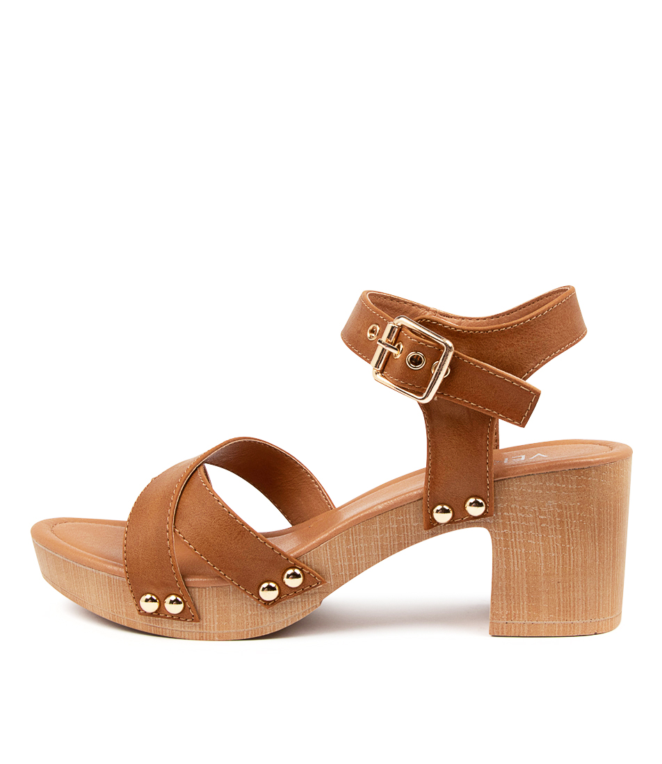 Buy Verali Lulu Ve Tan Heeled Sandals online with free shipping