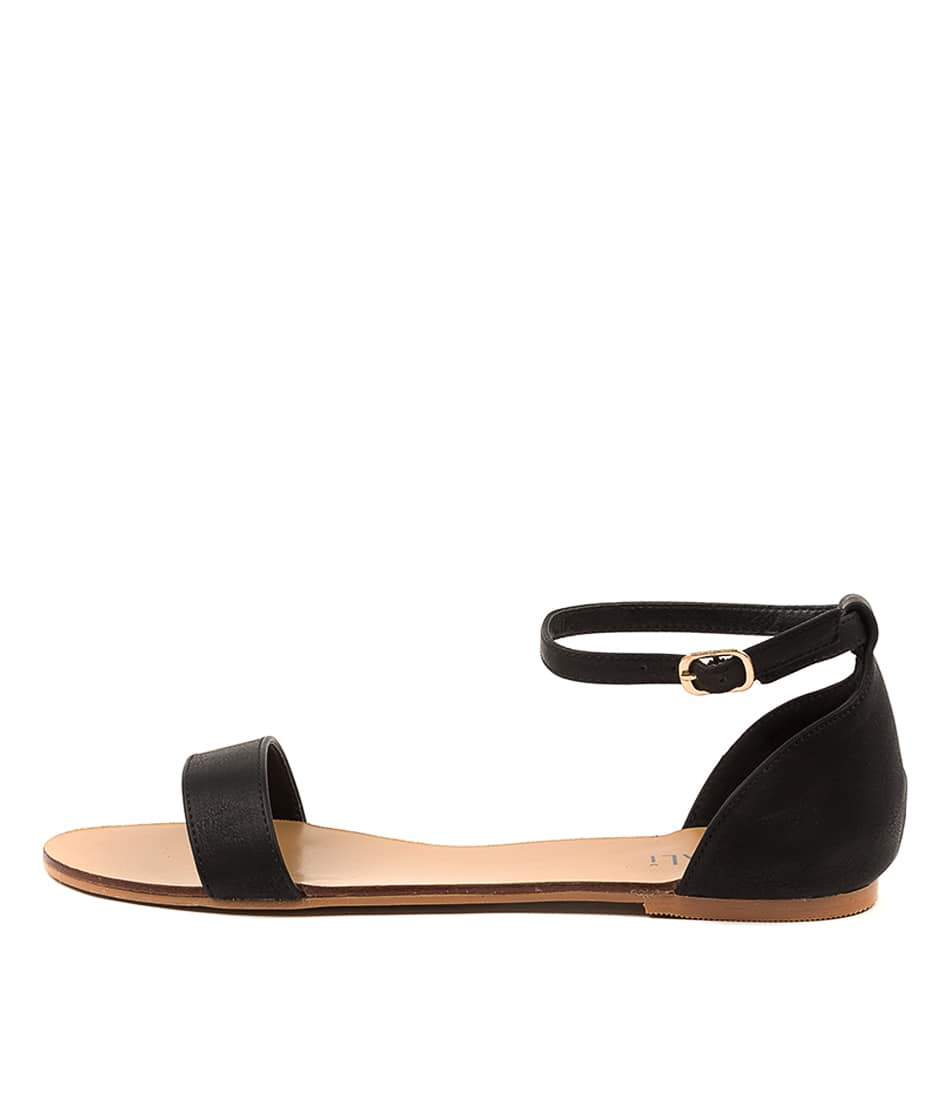Buy Verali Bailey Ii Ve Black Flat Sandals online with free shipping