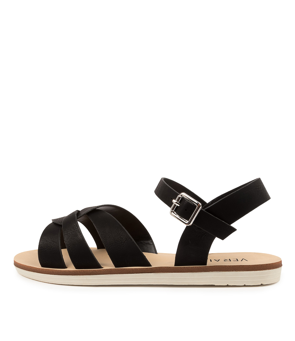Buy Verali Solo Ve Black Flat Sandals online with free shipping