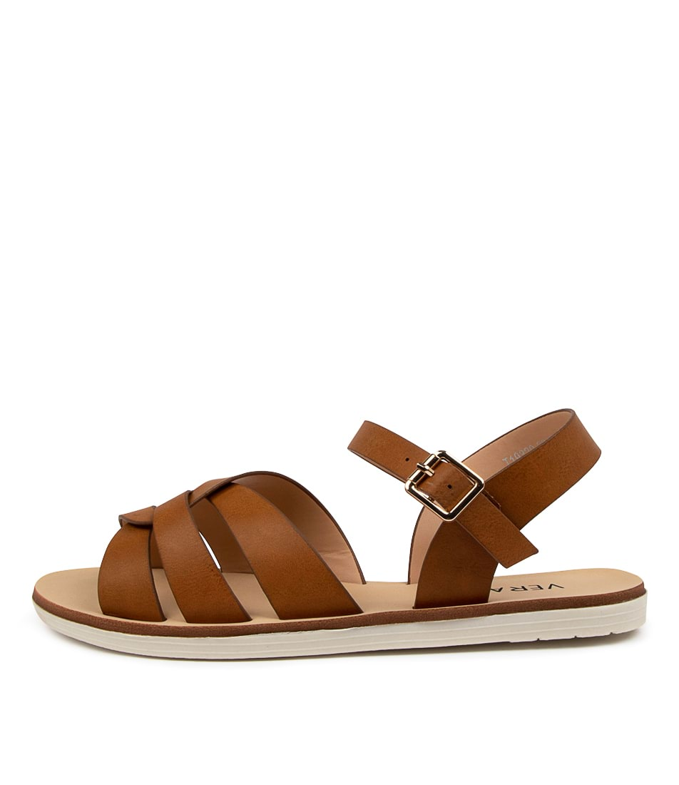 Buy Verali Solo Ve Tan Flat Sandals online with free shipping