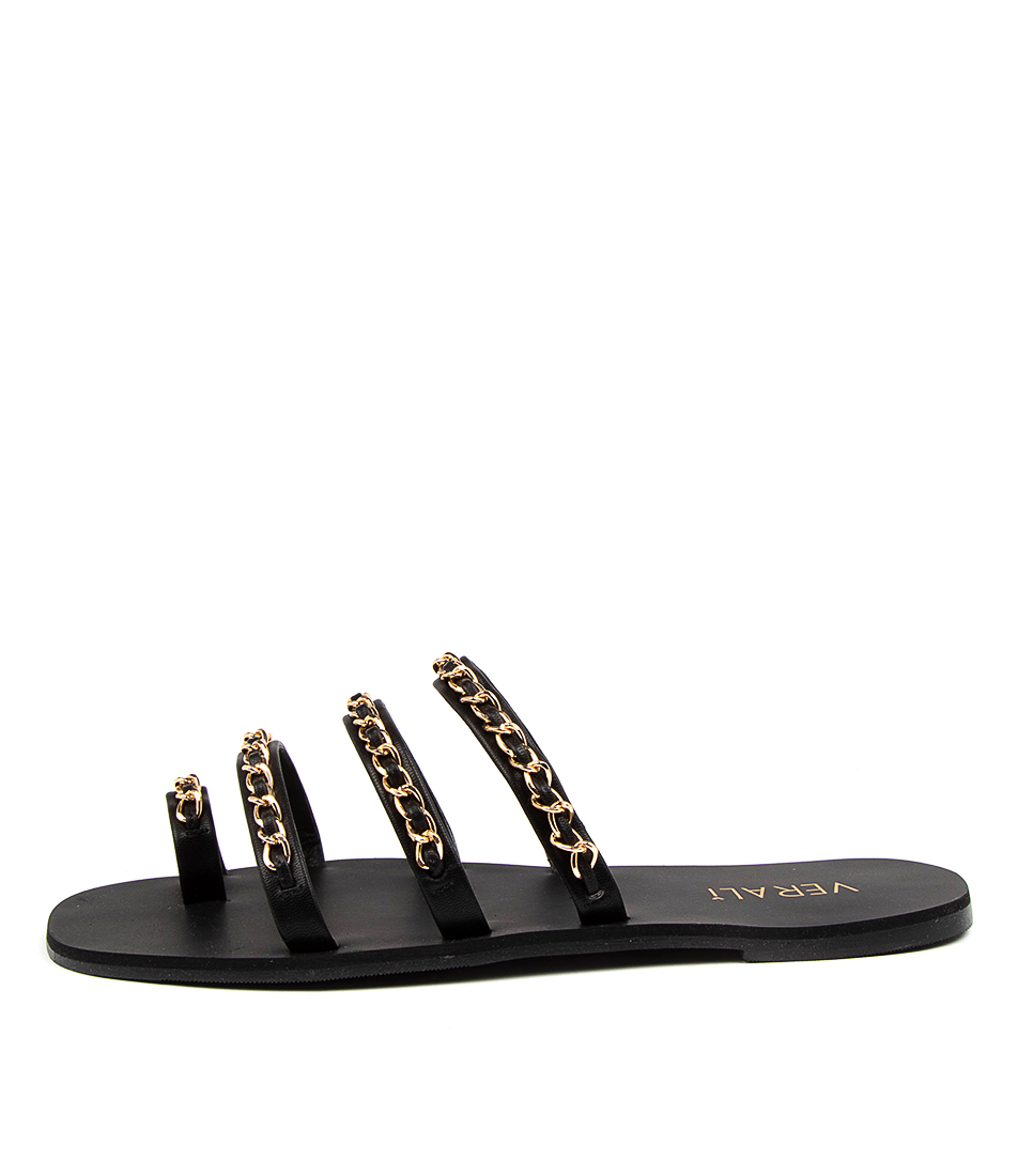 Buy Verali Cindy Ve Black Flat Sandals online with free shipping