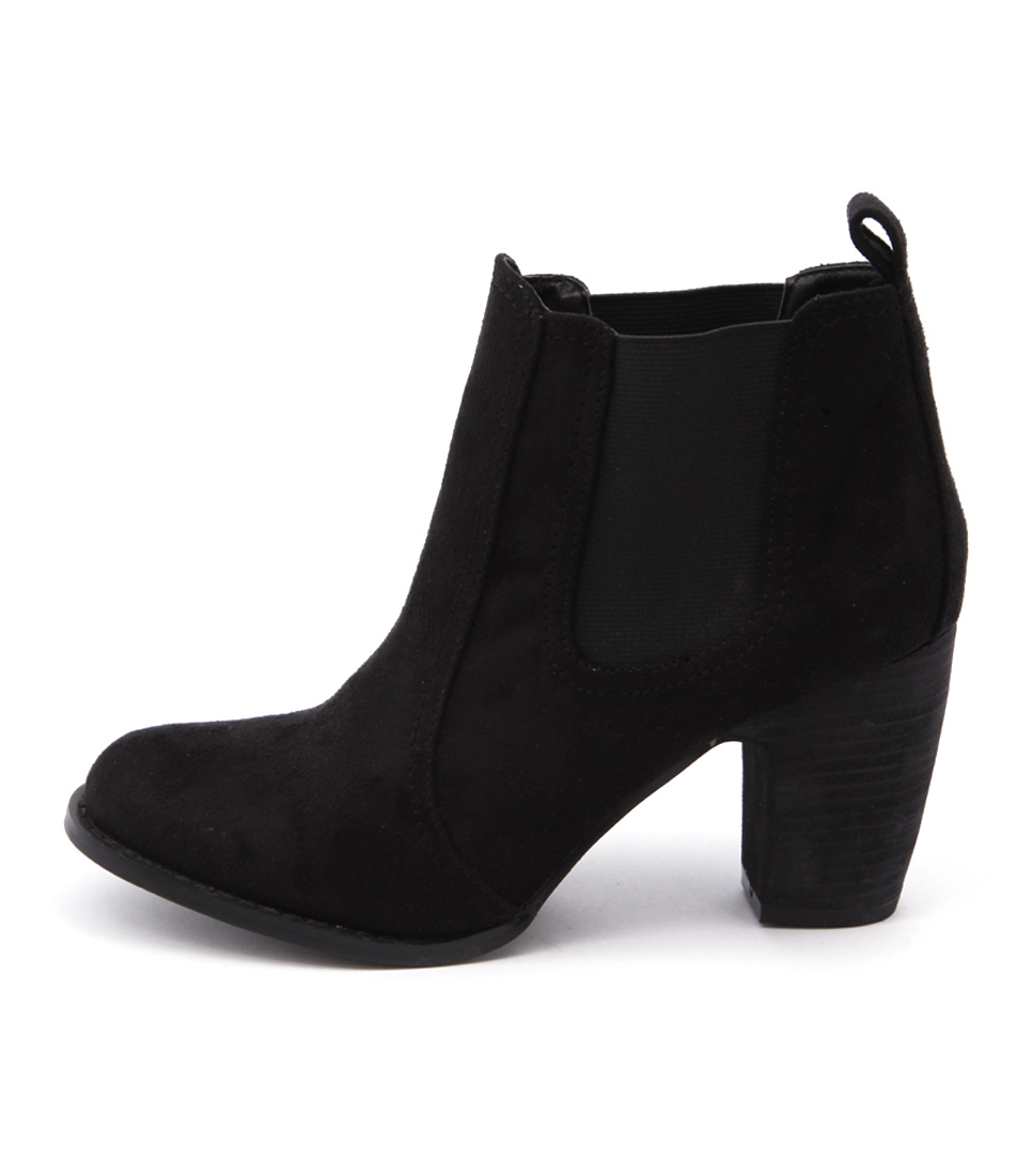 Verali Gia Black Casual Ankle Boots