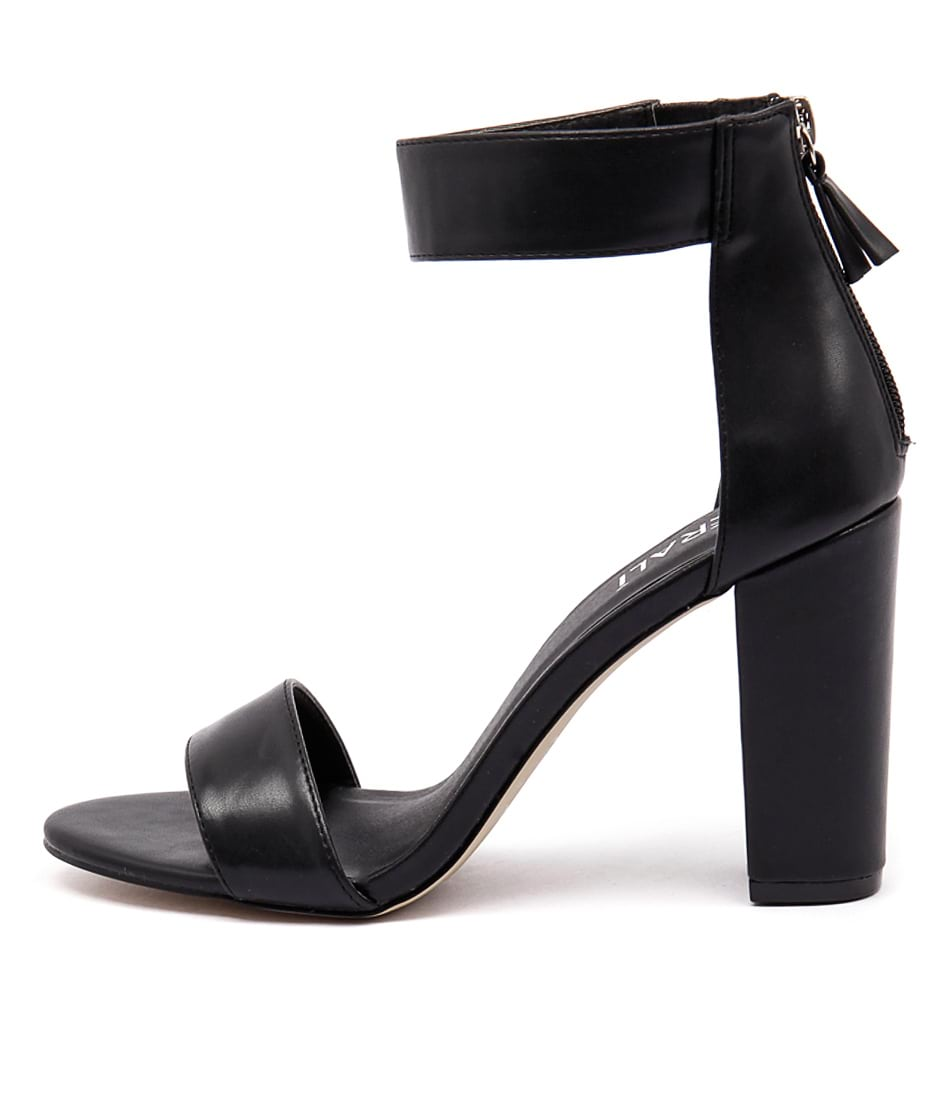 Verali Carlo Black Dress Heeled Sandals