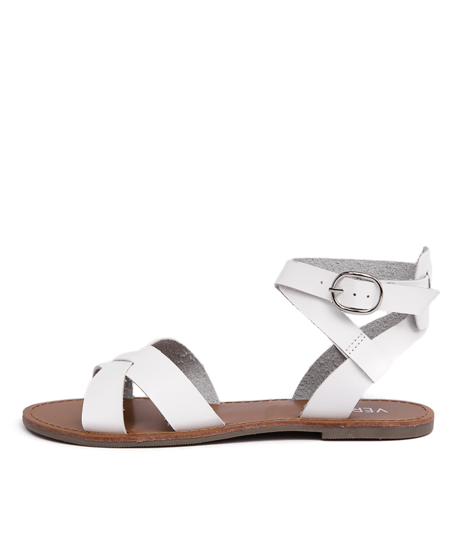 Verali Tina Ve White Flat Sandals