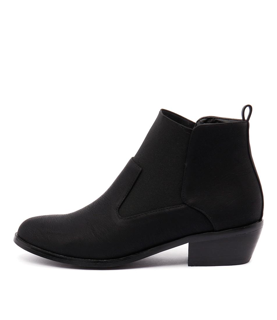 Verali Imogen Black Ankle Boots