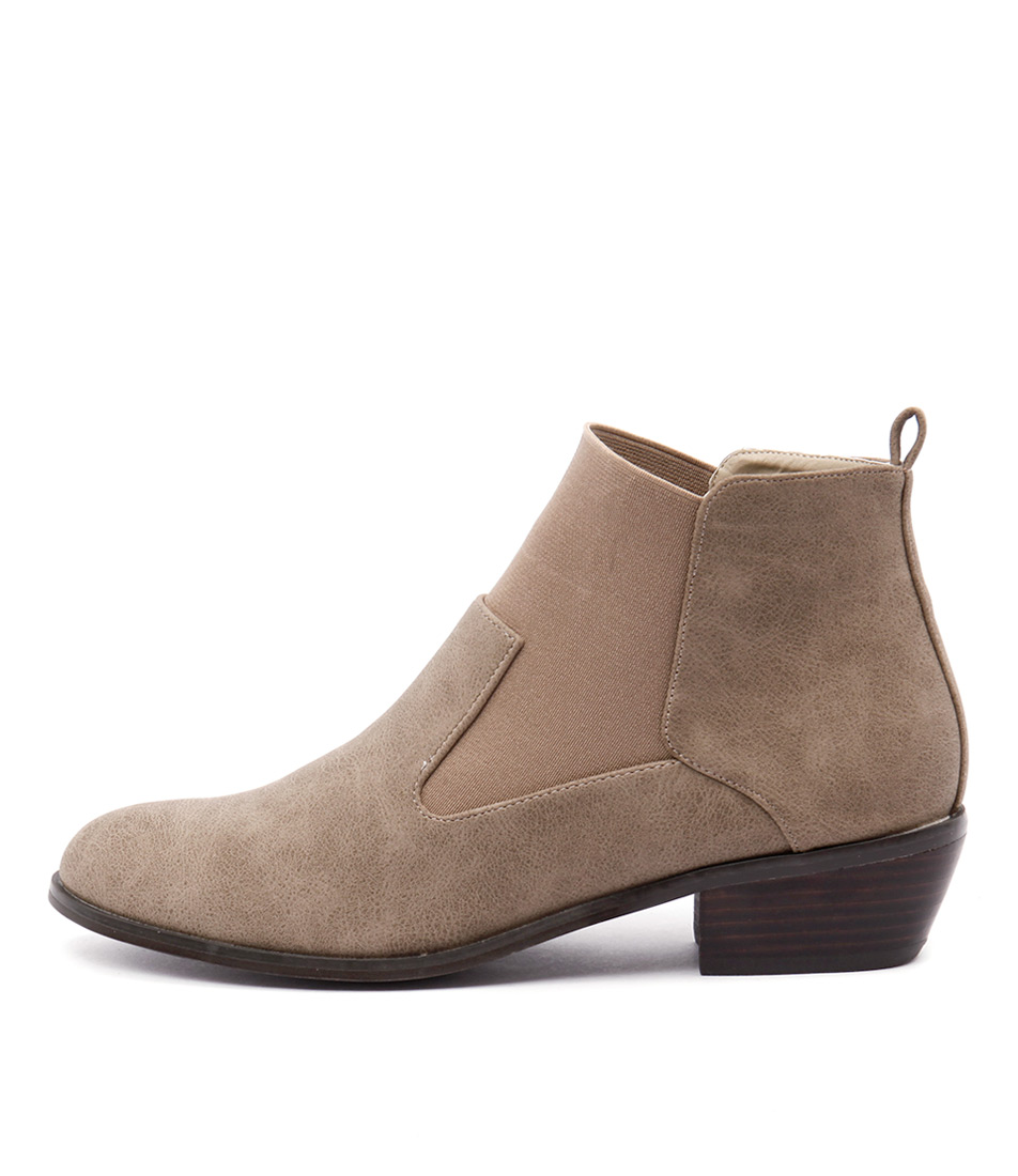 Verali Imogen Taupe Ankle Boots
