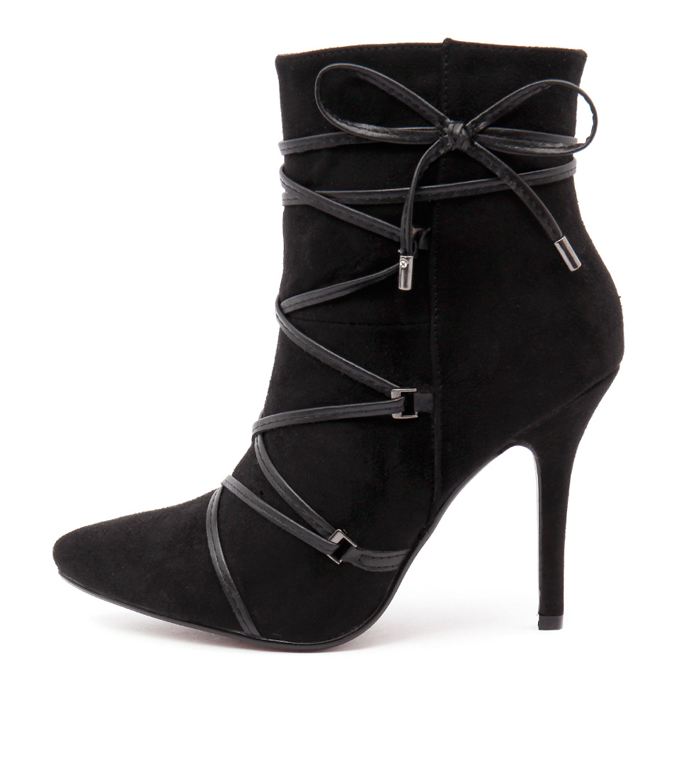 Verali Shania Ve Black Dress Ankle Boots