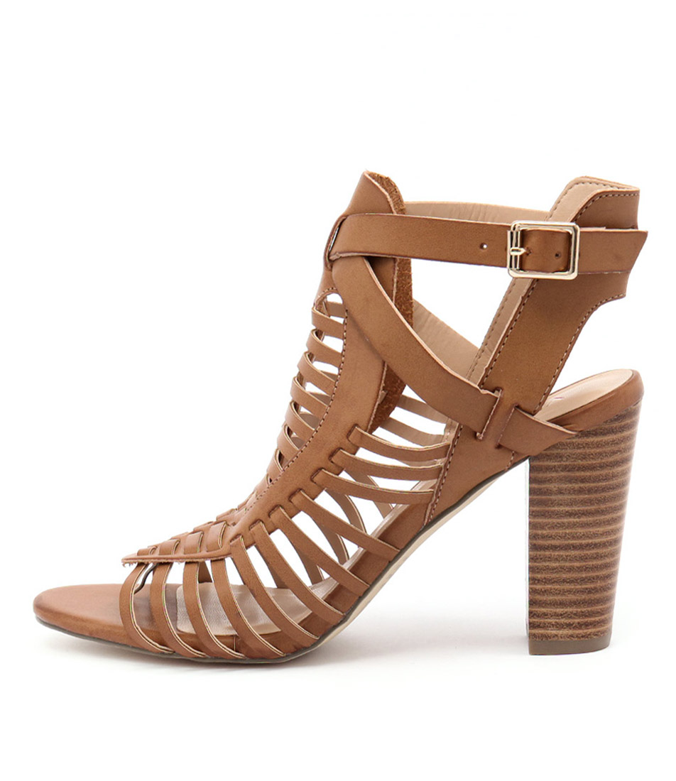 Verali Celeste Ve Tan Casual Heeled Sandals