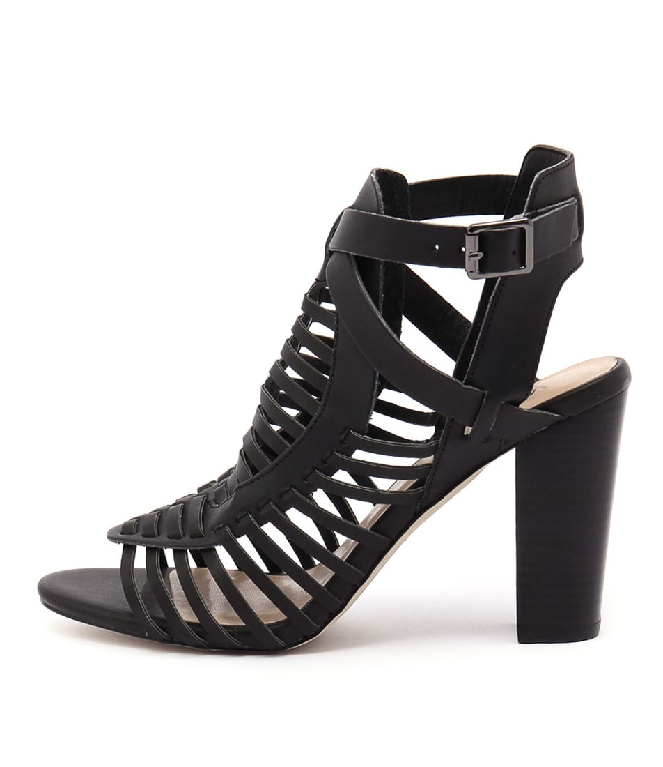 Verali Celeste Ve Black Casual Heeled Sandals