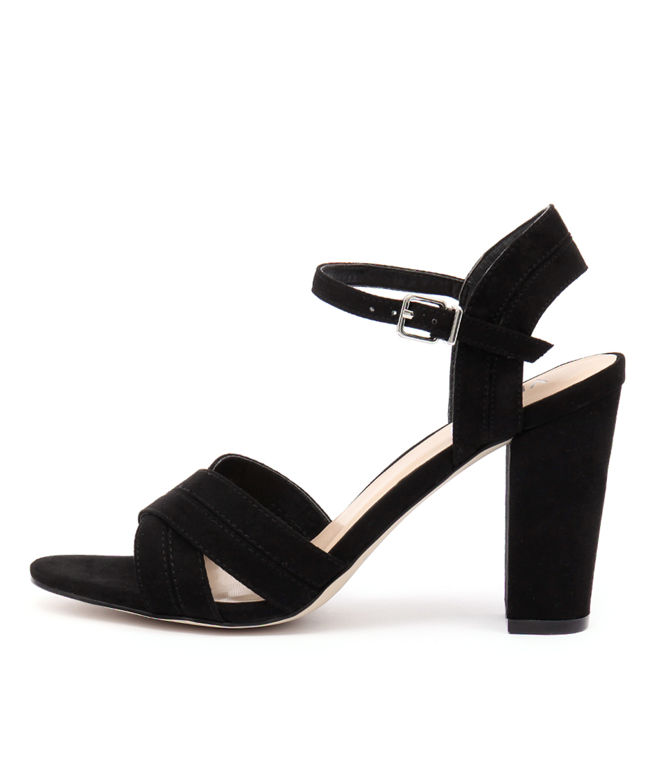 Verali Contessa Ve Black Dress Heeled Sandals