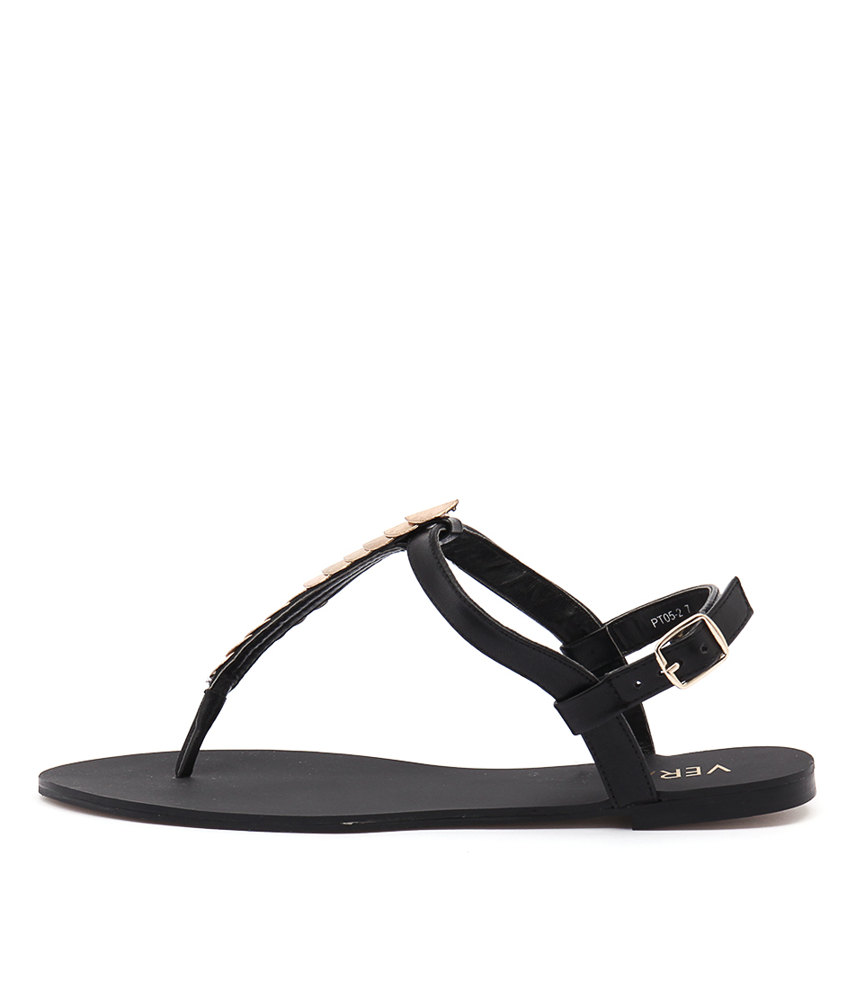 Verali Sabina Ve Black Casual Flat Sandals
