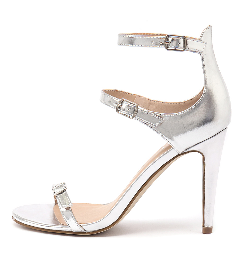 Verali Olga Ve Silver Dress Heeled Sandals